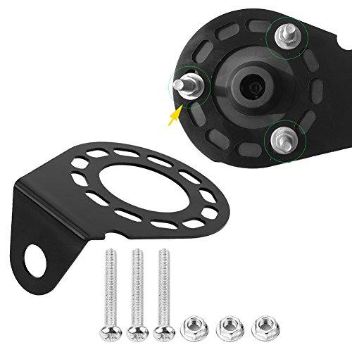 Keenso Schwarz 7 Pin 13 Pin Steckverbinder Halterung rechtwinklig Steckdose für Wohnwagen Anhängerkupplung mit kompletten Schrauben und Muttern