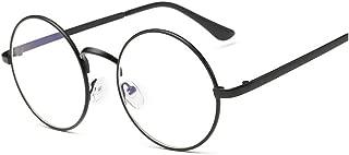 Lovef Large Oversized Metal Frame Clear Lens Round Circle Vintage Eye Glasses 5.4 * 2inch