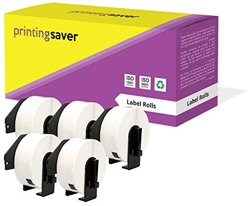 5 Compatibles Rollos DK11201 DK-11201 29mm x 90mm Etiquetas para Brother P-Touch QL-500 QL-550 QL-570 QL-700 QL-800 QL-810W QL-820NWB QL-1050 QL-1060N QL-1100 QL-1110NWB (400 Etiquetas por Rollo)