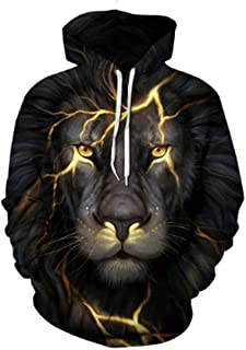 Autumn and Winter Explosions Wild 3D Printing Hooded Sweater Tide Men and Women Loose Baseball Uniform Jacket Men
