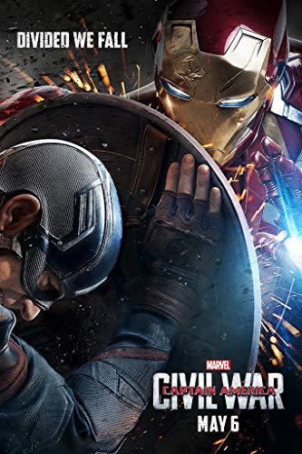 WOAIC 2016 Captain America Civil War Poster for Bar Cafe Home Decor Painting Wall Sticker Frameless 24X36 Inch(60X90CM)