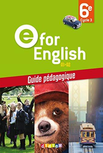 E for English 6e - Guide pédagogique - version papier