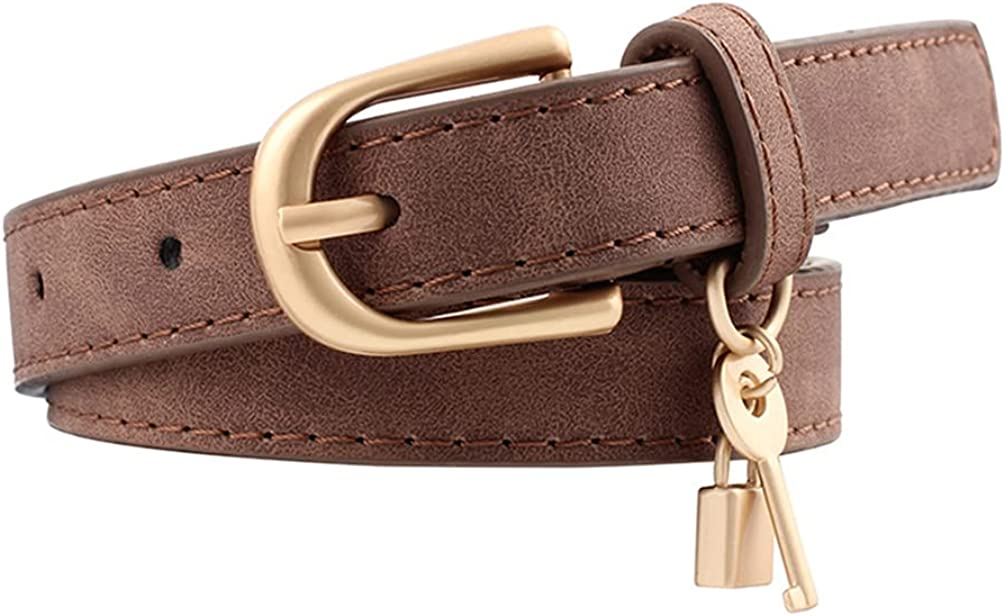 Women Challenge the lowest price of Japan ☆ Skinny Leather Belt Thin At the price for Casual Jeans Waist