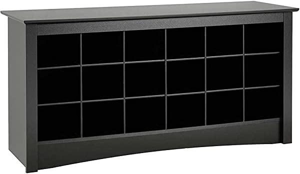 SKB Family Shoe Storage Bench Black 24 X 16 X 56 Lbs