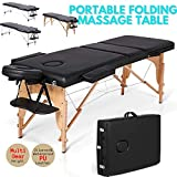 Electrotech Professional 3 Section Portable Spa Massage Aluminium Foldable Massage Table with Carring
