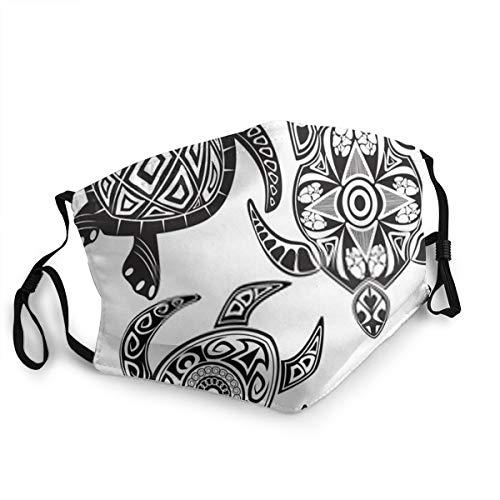 Zhgrong Unisex-Schildkröten im Maori-Tattoo-Stil 15 cm * 20 cm warme Winddichte Maske im Freien