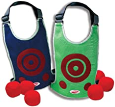 Diggin DodgeTag Game Set. Foam Dodge-Ball 6-Pack & Target Tag Vests