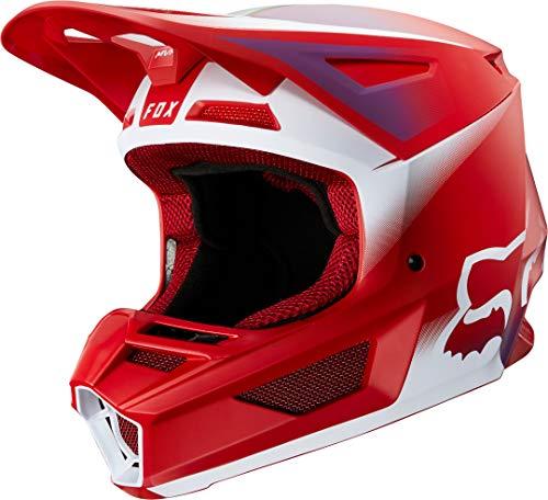 FOX V2 Vlar Motocross Helm Rot/Weiß S