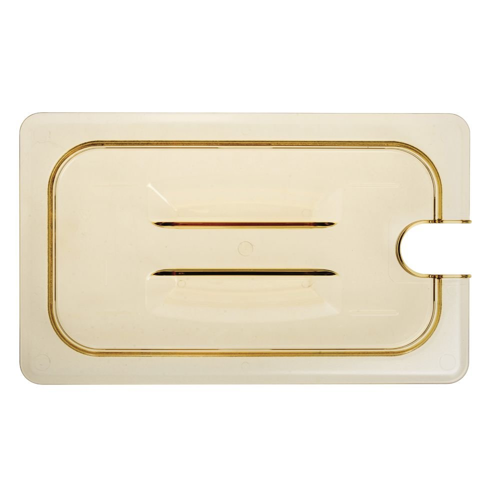 Cambro 40HPCHN150 H-Pan Amber 1 4 Notched We OFFer at cheap prices Cover w Ranking TOP17 Size Pan Food