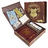 Harry Potter Kit Cancelleria con Agenda A5, Bacchetta Penna Harry Potter e Voldemort, Set Carta da Lettere, Adesivi, Harry Potter Gadget Originali