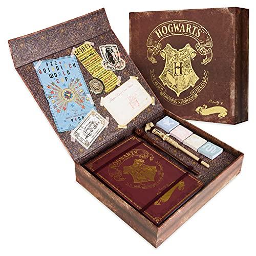 Harry Potter Regalos, Set de Papelería con Cuaderno de Notas de Hogwarts, bolígrafo varita, pegatinas y sobres para niños [toy]…