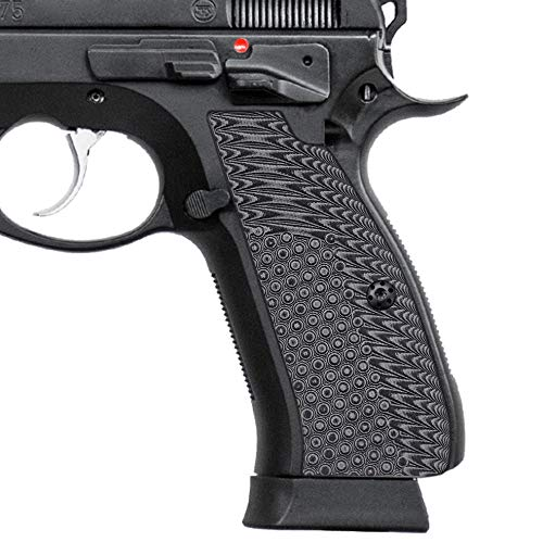 Cool Hand G10 Grips for CZ 75 Full Size, CZ 75 SP-01 Series, Shadow 2, 75B BD, Free Screws Included, Gun Metal, SP1-N1-5