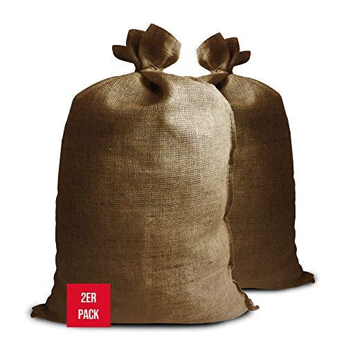 NOOR Premium Jutesäcke 2er Pack Gr. XL 65 x 135 cm I 2X Multifunktionaler Jutesack I Winterschutz für Topf- & Kübelpflanzen I Frostschutz für Pflanzen I Pflanzen-Überwinterung Gartensack I Natur