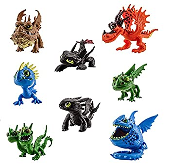 8 pcs Toys HTTYD How to Train Your Dragon Figures Toothless Night Fury Action Figure Toys Gift Figure Toys Set 2 - 2.8 inches
