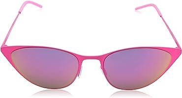 نظارة شمس ريترو بعدسات عاكسة شكل عين القطة للجنسين من ايطاليا انديبندنت - متعددة الالوان