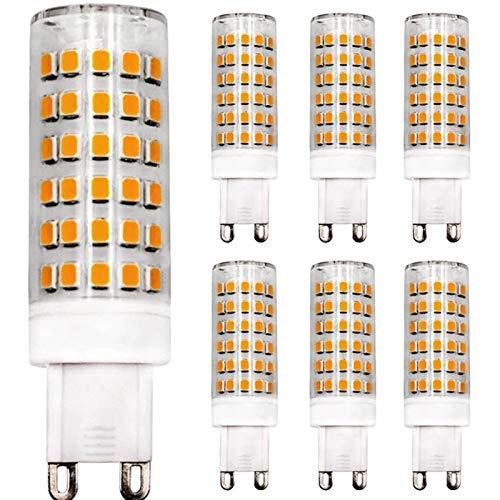 Lampadina LED Dimmerabile G9 9 W Equivalente a 80 W Lampadina Alogena Bianco Caldo 3000 K, 220 V-240 V AC, Ceramica