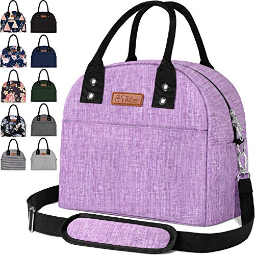 Reusable Insulated Cooler Lunch Bag - Portable Lunch Box for Office Work School Picnic Beach Workout Travel - Freezable Tote Lunch Bag Organizer with Adjustable Shoulder Strap for Women Men Adult Kids