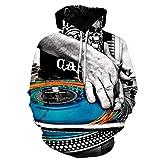 Photo de Sweats à capuche unisexe impression 3D Refroidir La Mode Unisexe Pull avec Capuche Sweat-shirt 3D Imprimé DJ SET Graphics Personnalité de La Mode Outwear avec Poches Big Athletic Casual avec poche