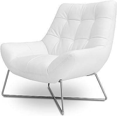 Divani Casa A728 - Modern White Occasional Chair