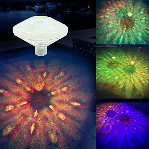 Pool Lights Floating Pool Lights Underwater Waterproof Lights LED Pond Lights for Inflatable Pool,Intex Pool,Swimming Pool Disco Pool Party or Pond Decorations