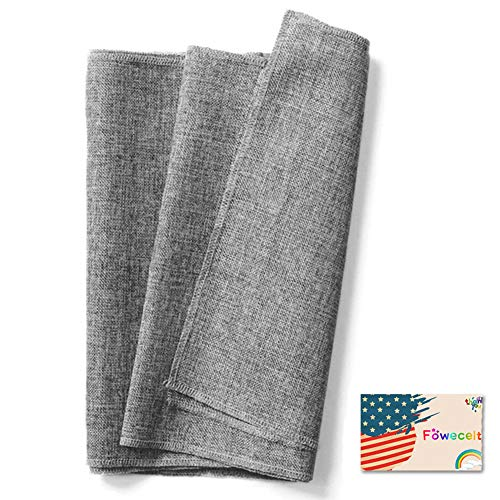 Fowecelt Gray Burlap Table Runner Natural Imitated Linen 14 x 72 Inch for Party Wedding Baby Shower Decorations Dining Farmhouse Outdoor Picnics Table, Handwoven Table Runners