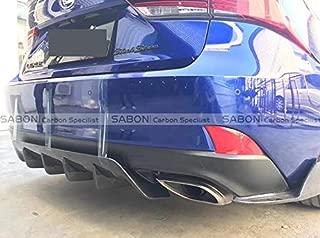 3-PCS-Set Art Style Carbon Fiber Rear Diffuser Lip for Lexus IS250 IS300 2017 18