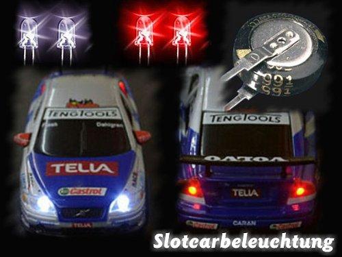 Beleuchtung Tuning Bausatz Slotcars Carrera GO Autos mit Licht Carrera Digital 143 Autos mit Licht