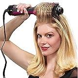 WIGM 1000W secador de pelo profesional del cepillo 2 en 1 plancha de pelo rizador de peine eléctrico Blow secadora con el peine del cepillo de pelo Styler Roller