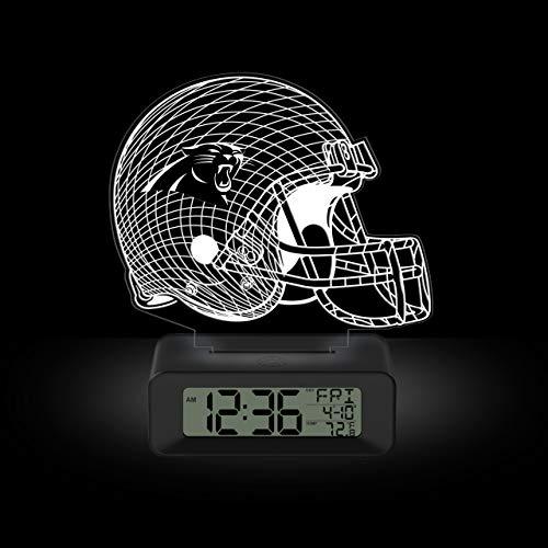 NFL Team Logo LED Illusion Alarm Clock by Game Time - Carolina Panthers