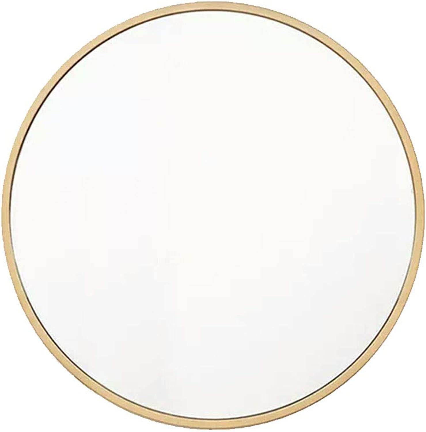 Round Wall-Mounted Bathroom Mirror   Makeup Shaving Mirror   gold Metal Frame Wall Mirror   30-70cm Available