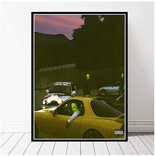 Jackboys y Travis Scott Cover Rap Music Album Nueva pintura Poster Print Canvas Wall Picture For Home Room Decor -50x70cmx1pcs -Sin marco