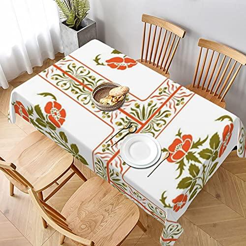 Spicetree Tischdecke, Wachstuch, Jugendstil, Blumenmuster, Holzschnitt von Spicetree Picknickdecke, waschbare Tischdecke für Abendessen
