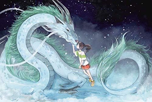 El Viaje de Chihiro Rompecabezas 1000 Piezas Rompecabezas de Madera de Alta definición Dibujos Animados Anime Adultos niños Juguetes educativos Juego de Rompecabezas
