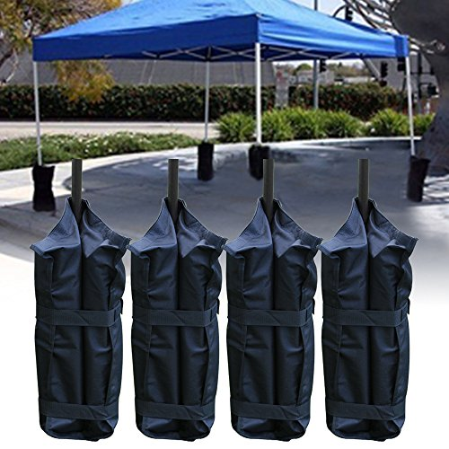 Denny International Set of 4 Gazebo Foot Leg Pole Large Sandbag Weight for Marquee Market Stall tents and Sun Shade Sand Bag