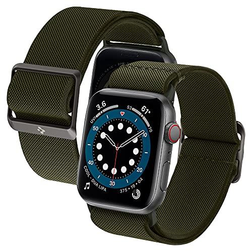 Spigen Lite Fit Compatible con Watch Cinturino per 44mm Serie 6/SE/5/4 e 42mm Serie 3/2/1 - Verde Kaki