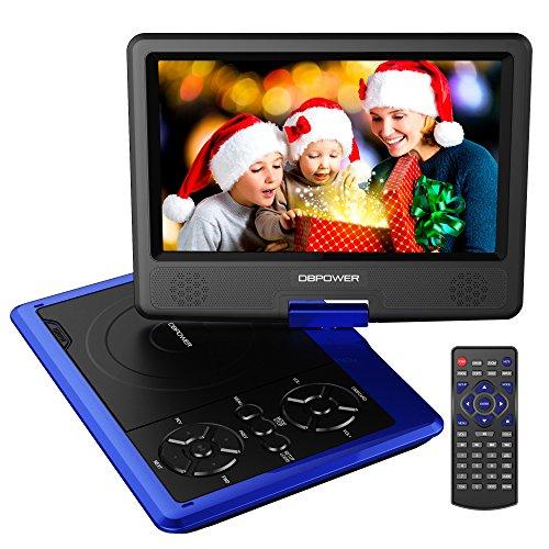 DBPOWER 11.5' Lecteur DVD Portable, Pile Rechargeable de 5 Heures, avec écran orientable, compatibilité Carte SD et Interface...