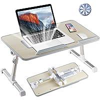8AMTECH Lap Desk Ajustable Laptop Table with Cooling Fan