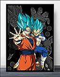 AQgyuh Puzzle 1000 pièces Goku Japonais Anime Manga Ultra Instinct...
