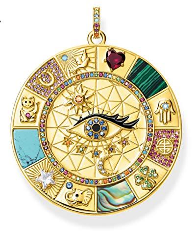 XIAOHNNL Anhänger Amulett Magische Glückssymbole, 2020 Sommer Golden Schmuck Vintage Pure 925 Sterling Silber Leistungsstarkes Geschenk Für Ts Frauen Männer