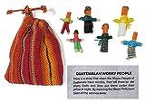 Poupées anti-tracas - Poupées guatémaltèques - Sachet de 6 petites poupées faites à la main