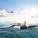 XUANX 10 Fuß Mobiles Wasser Schwimmendes Trampolin Aufblasbares Trampolin Aus Dickem PVC Mit...