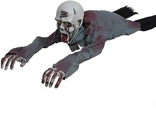 ハロウィン忍び寄るゾンビ、気味悪いサウンドコントロール電気忍び寄る幽霊バッテリー操作は赤い目お化け屋敷装飾小道具、ハロウィーンのギフト