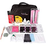 Glad Lash Essential Student Eyelash Extensions Kit with B Curl Lashes, Glue, Tools (0.15mm x 8, 10, 12mm) B,C,D Curl Mixed Length