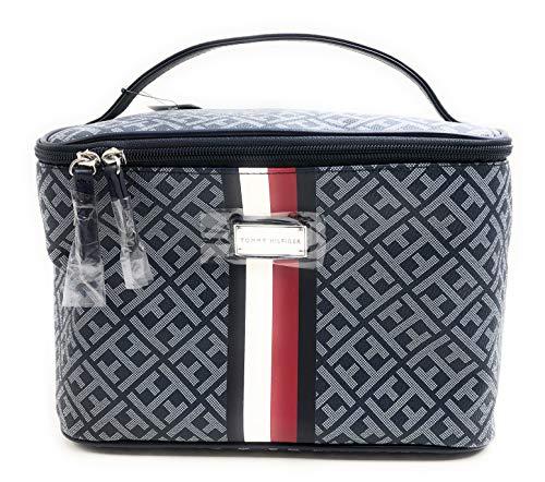 Tommy Hilfiger Kosmetiktasche - Beautycase - Handgepäck - Kosmetikkoffer - Blau - 26x16x15cm - Damentasche 5576