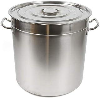 WUPYI2018 Marmite de cuisine en acier inoxydable avec couvercle 35 litres