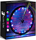 Activ Life Bike Lights (1 Wheel Red, White & Blue) Best Fitness Gifts for Grand Son Grand Daughter Niece Nephew Sports Presents - Top Easter 2021 Cool and Fun Ideas for Women & Men Who Have Everything