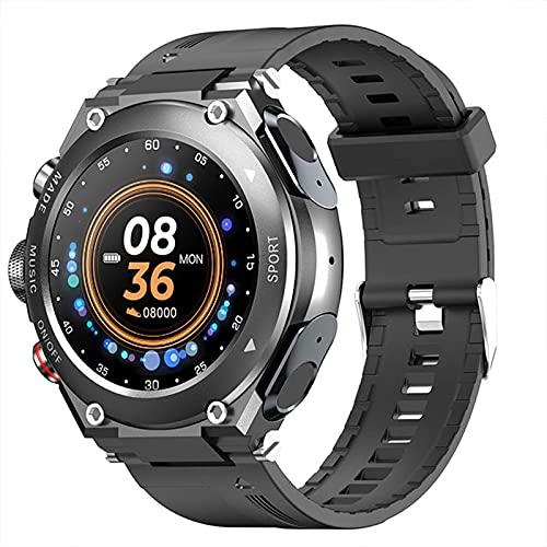 L.B.S Reloj Inteligente T92 2021 para Hombre, TWS, Bluetooth 5,0, Llamada 9D, reproducción estéreo, música, Reloj Inteligente Deportivo Resistente al Agua para Android iOS(C)