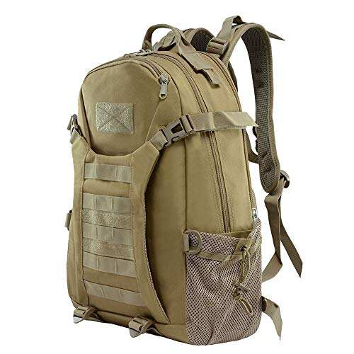 K-mover 28L Military Tactical Backpack, Assault Molle Rucksack Bug Out Bag Best Military Survival Gear for Men and Women (Black)