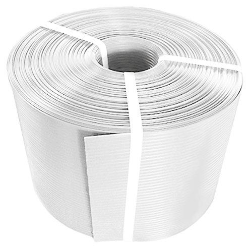 Thermoplast® ZAUNSICHTSCHUTZSTREIFEN, Sichtschutzblende, 19cm x 26m = 4,94m2, Weiß (RAL 9003), 5 Jahre Garantie