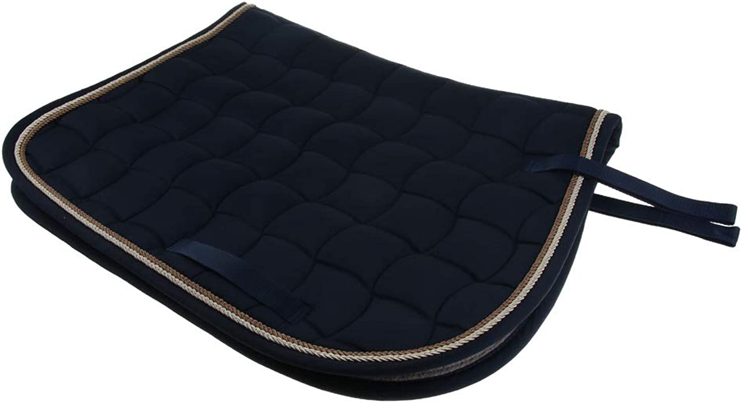 CUTICATE Half Western English Saddle Pads, Horse Jumping Event Saddle Pad for Schooling Training, Eventing